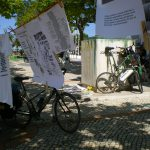 Bicicletada Anti-Fracking a descer a costa